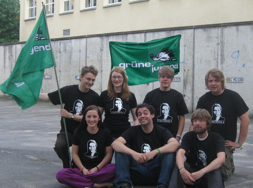 Grüne Jugend Bielefeld in Zensursulashirts